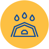 Raining on a Roof Icon